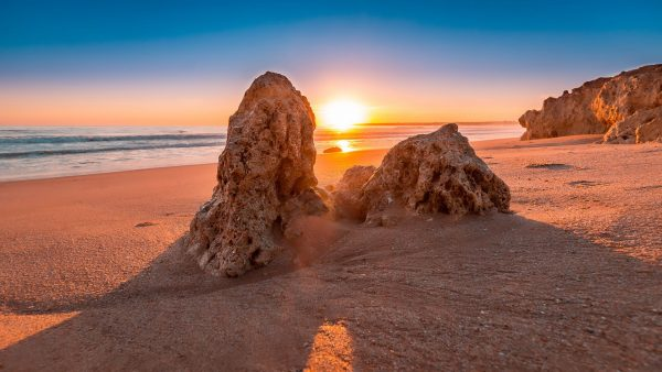 Португалія Алгарве захід