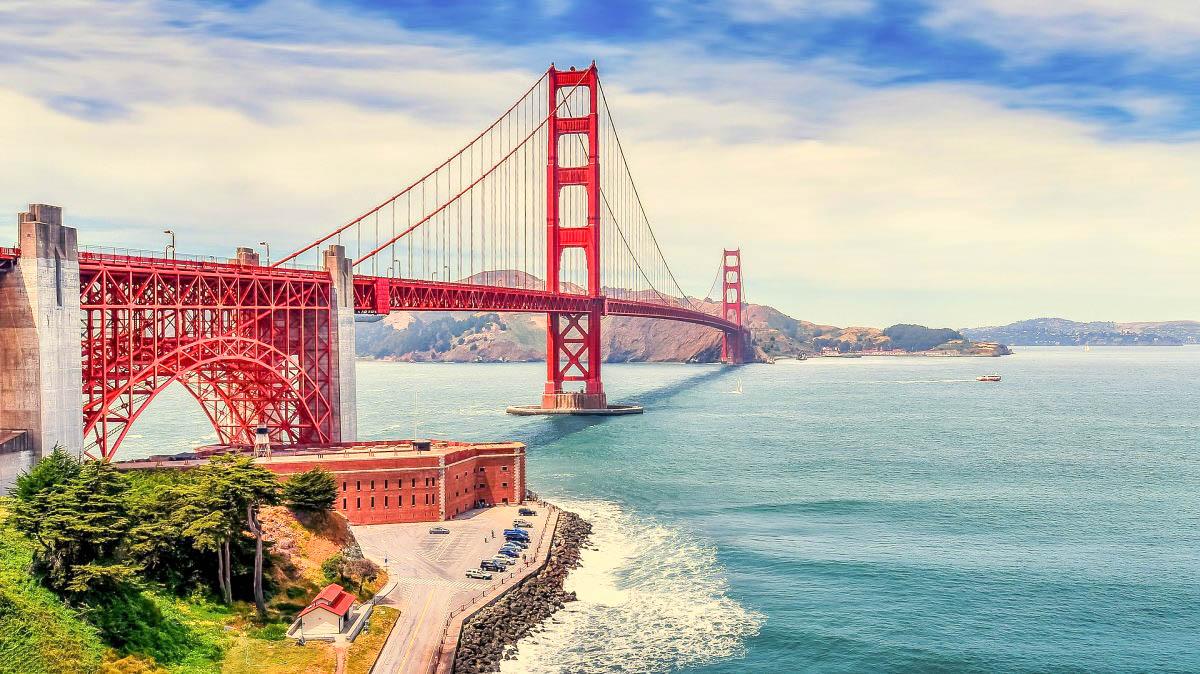 США Сан-Франциско Голден Гейтс