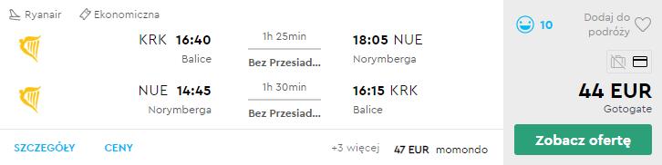 Краків - Нюрнберг - Краків