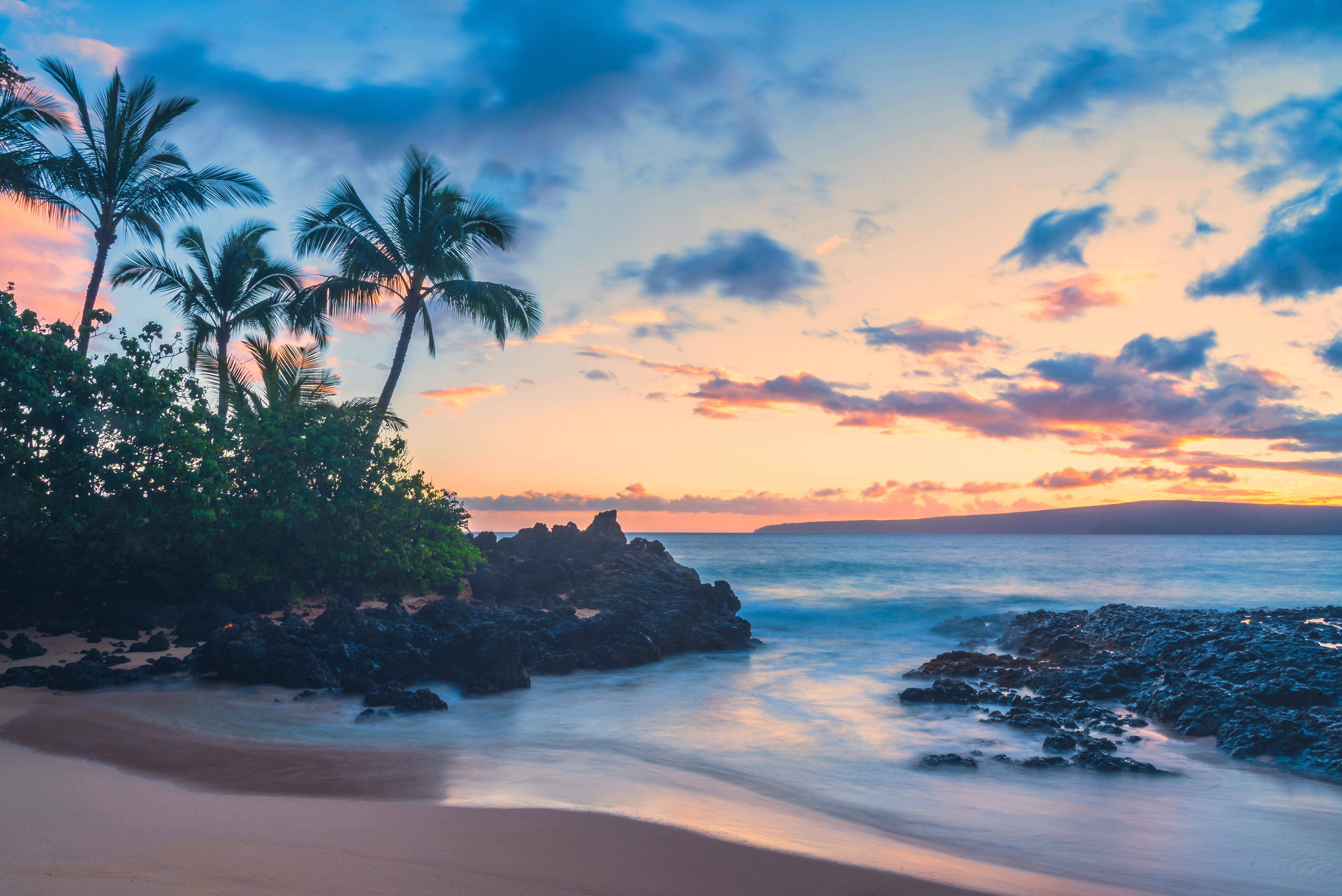 мауї пляж захід сонця