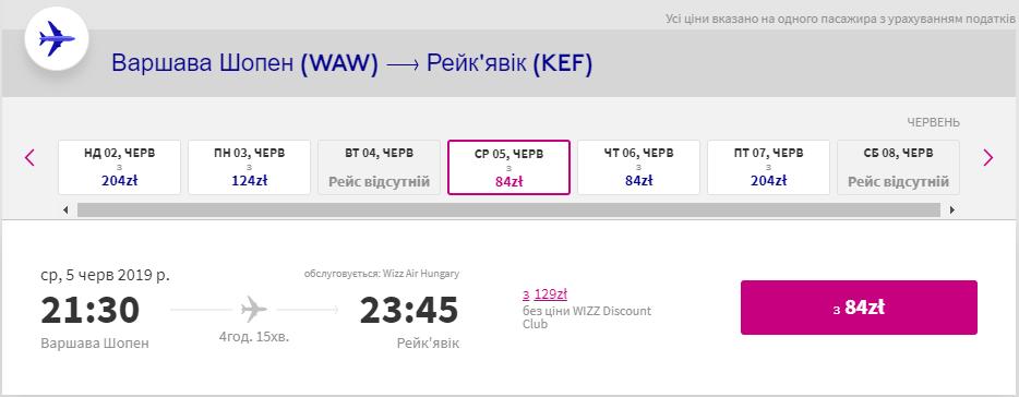Варшава - Рейк'явік