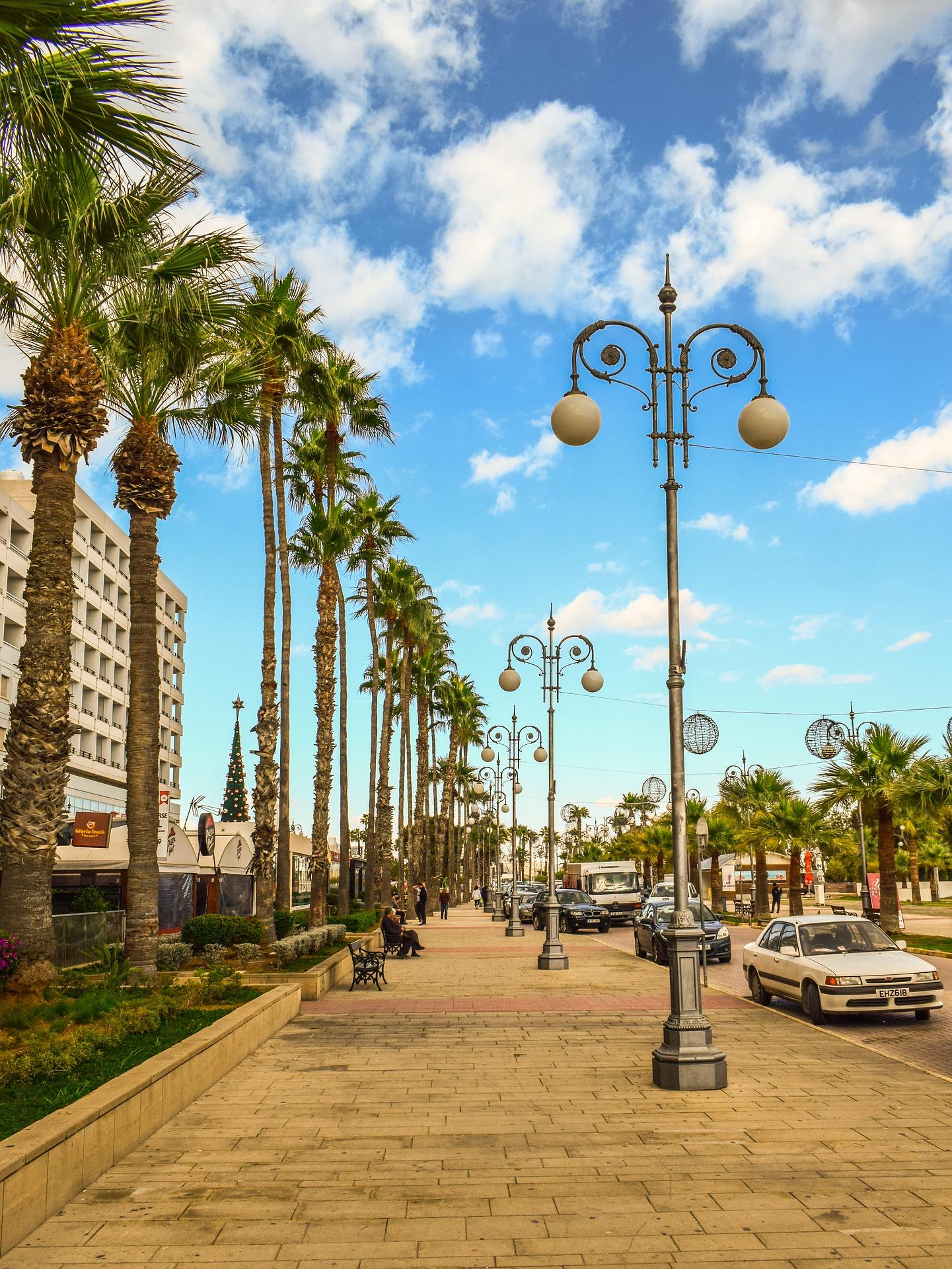 ларнака вулиця з пальмами