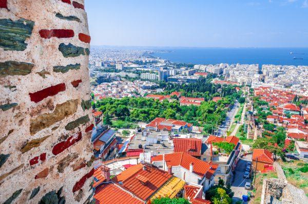 Греція Салоніки вид на місто