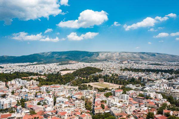 афіни панорама міста