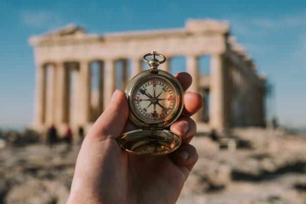 афіни акрополь компас