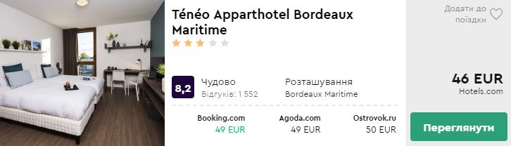 Ténéo Apparthotel Bordeaux Maritime