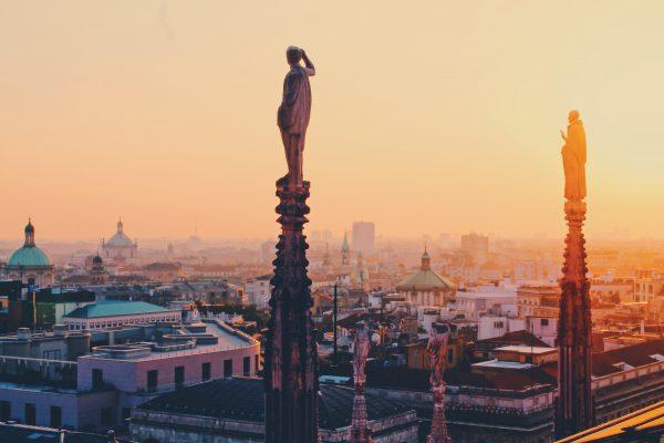 мілан панорама міста з даху дуомо