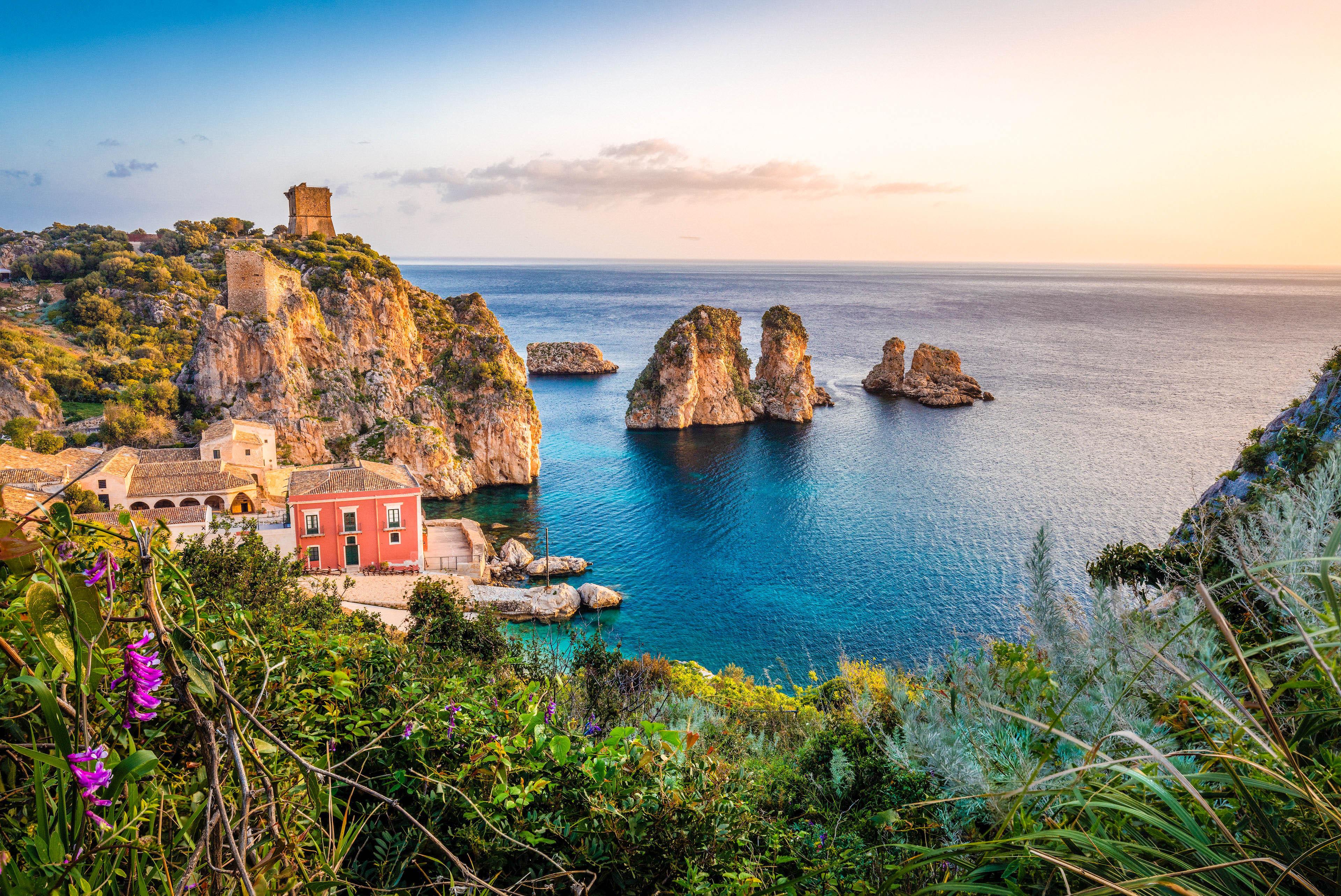 Італія Сицилія вид на море