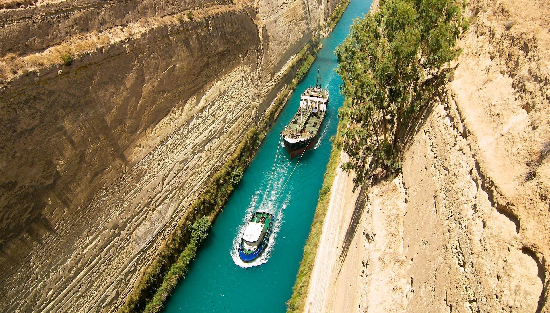 Греція Коринф канал