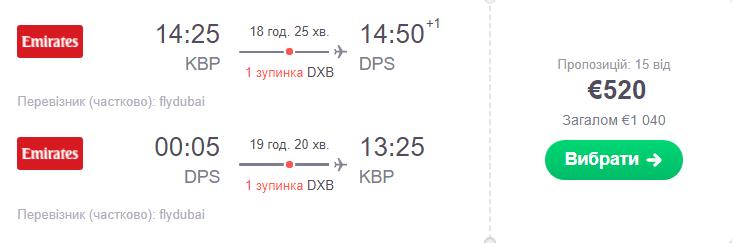 Київ - Денпасар - Київ >>