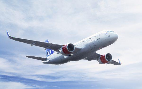 літак авіакомпанії SAS