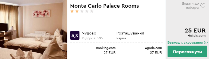 Monte Carlo Palace Rooms