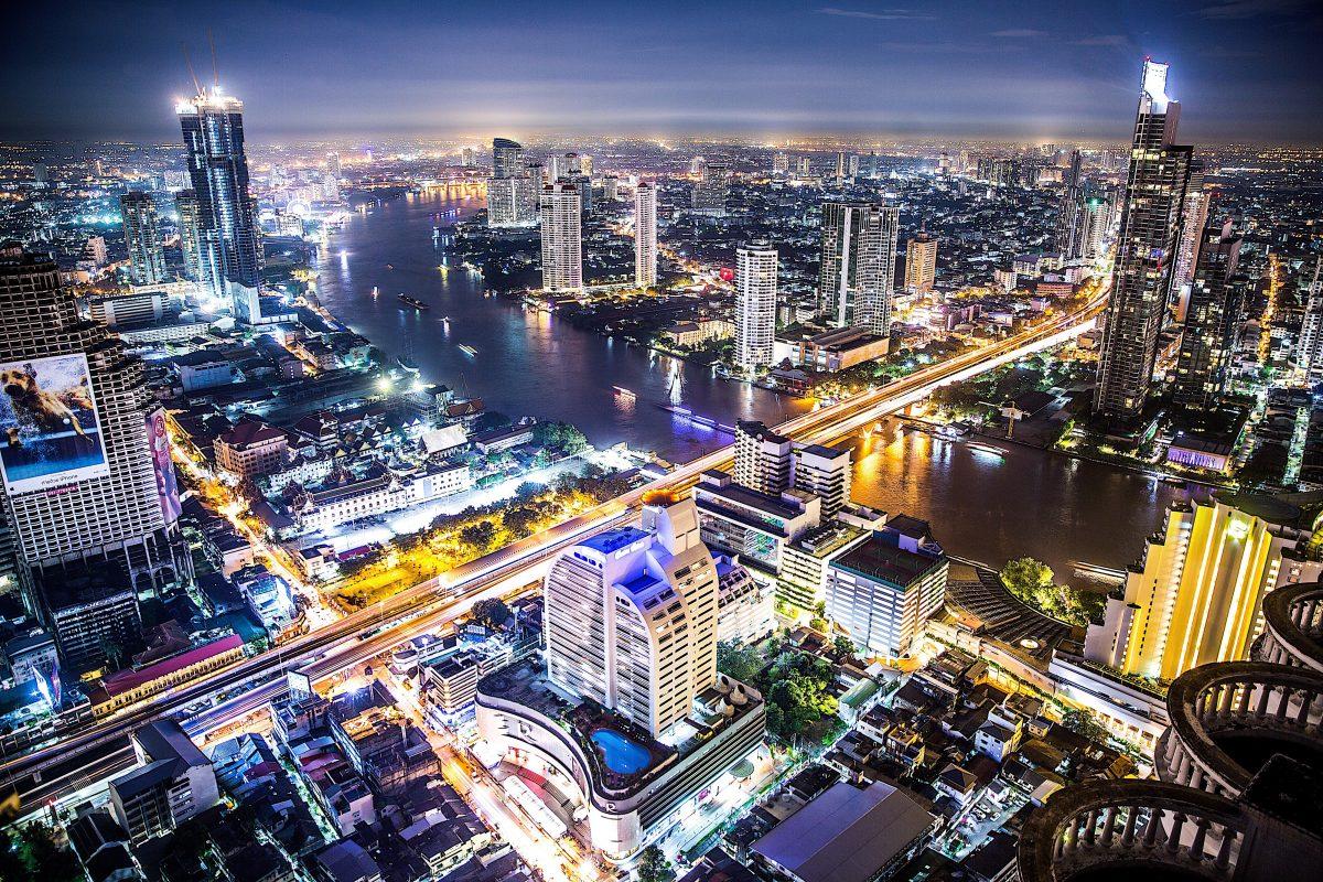 бангкок панорама міста вночі
