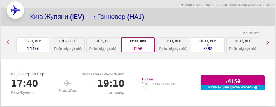 Київ - Ганновер