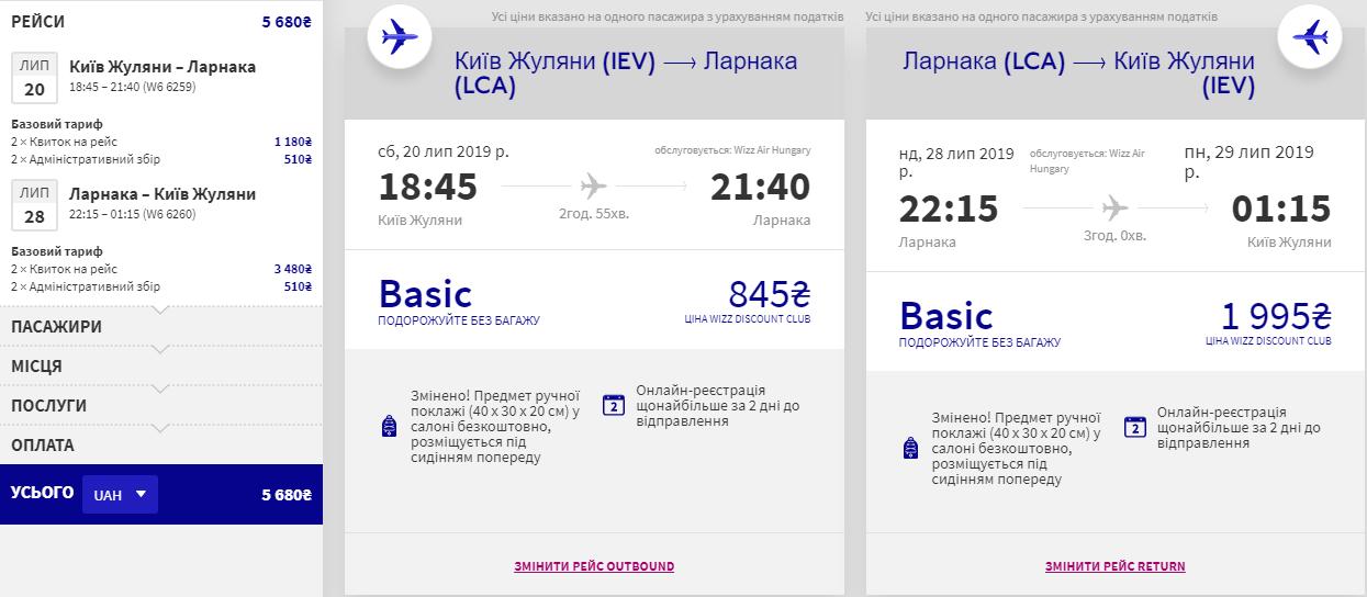 Київ – Ларнака – Київ