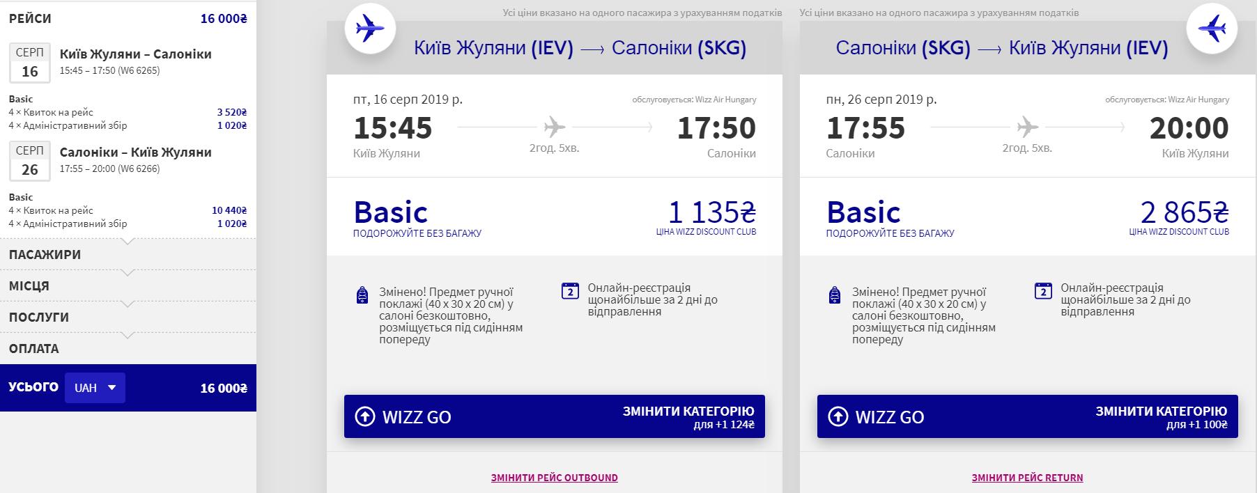 Київ - Салоніки - Київ