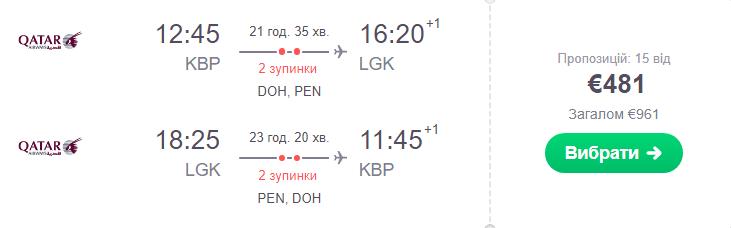Київ – Лангкаві – Київ