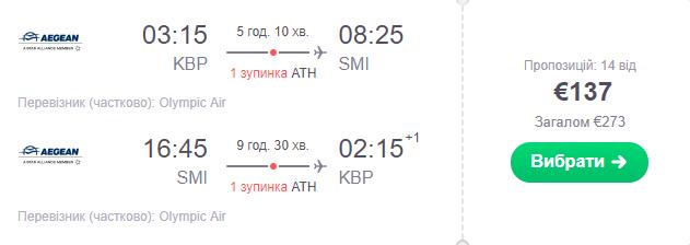 Київ - Самос - Київ