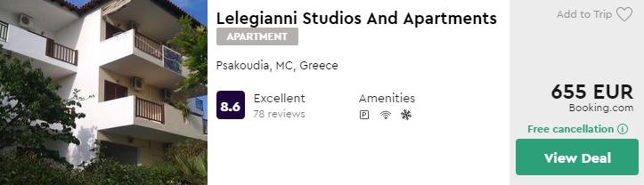 Lelegianni Studios And Apartments