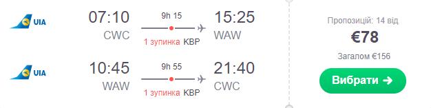 Чернівці – Варшава – Чернівці