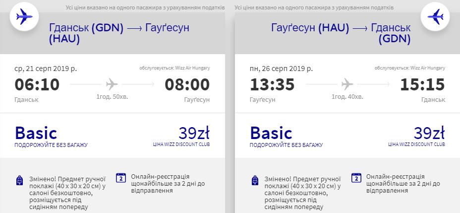 Гданськ - Гаугесунн - Гданськ
