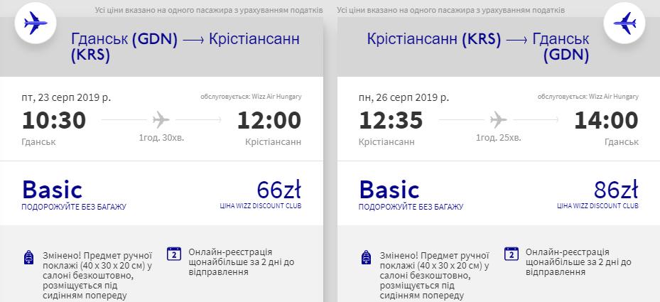 Гданськ - Крістіансанн - Гданськ