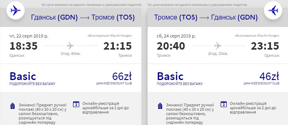 Гданськ - Тромсе - Гданськ