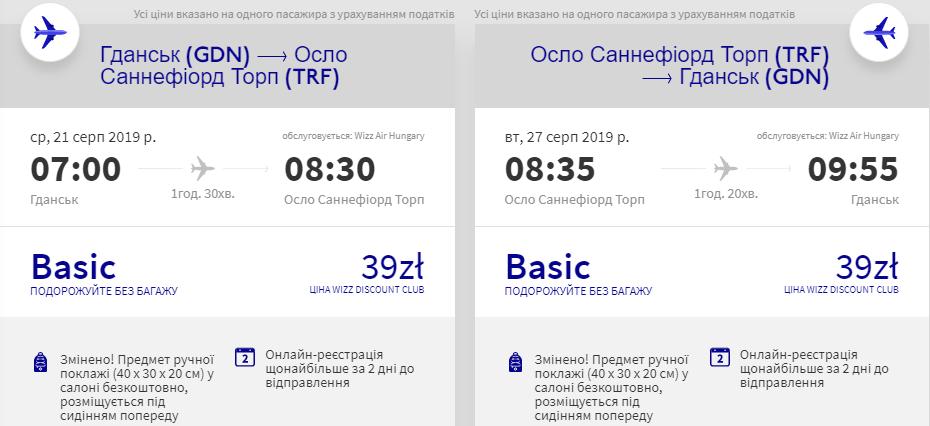 Гданськ - Осло - Гданськ