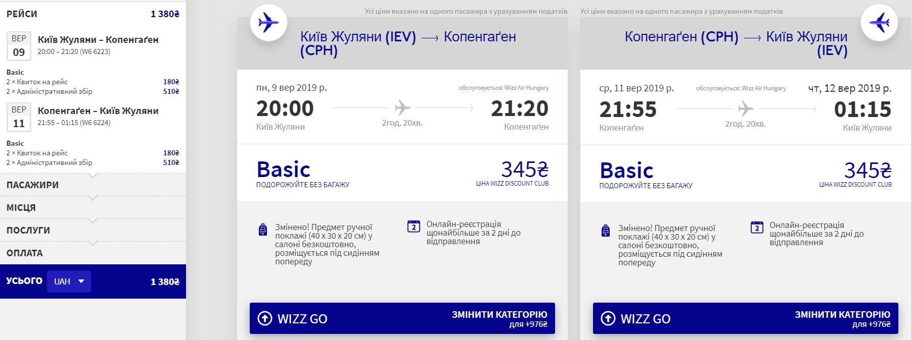 Київ – Копенгаген – Київ