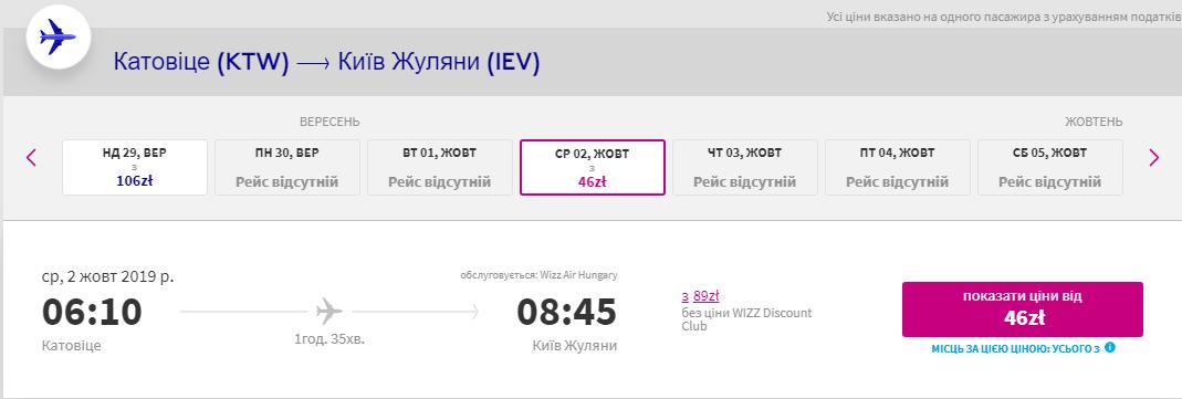Катовіце – Київ
