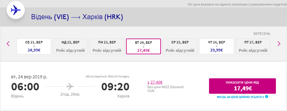 Відень - Харків