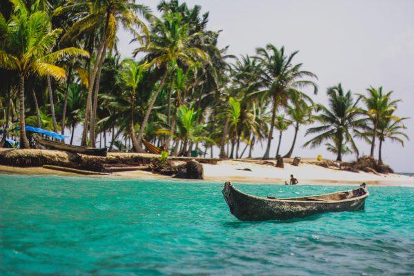 панама пляж човен