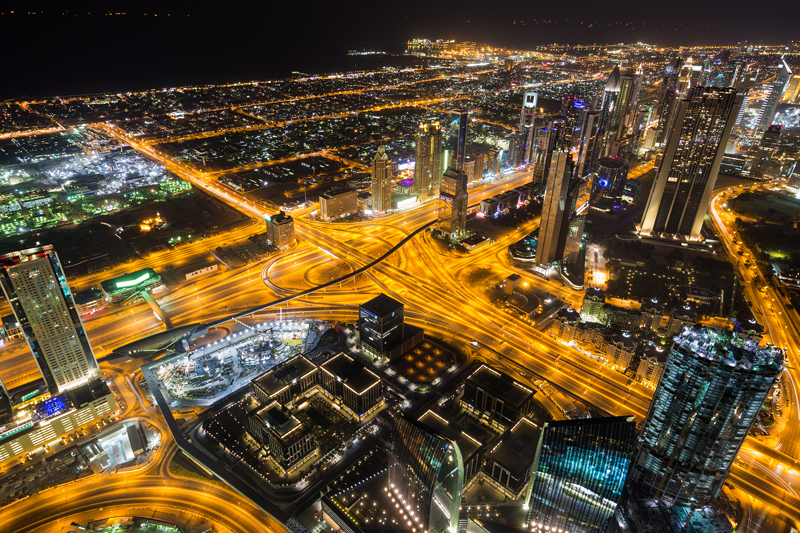 Дубай з Burj Khalifa