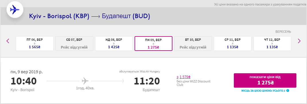 Київ - Будапешт