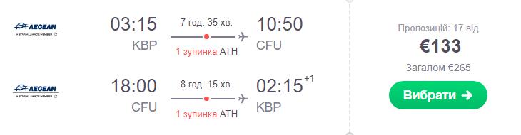 Київ – Корфу – Київ >>