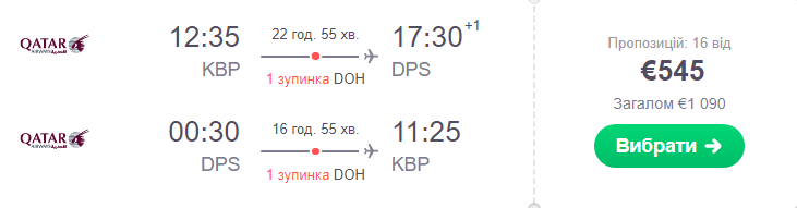 Київ – Денпасар – Київ >>