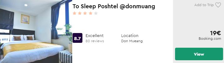 To Sleep Poshtel @donmuang