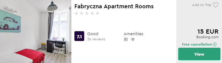 Fabryczna Apartment Rooms