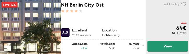 дешевий готель в Берліні