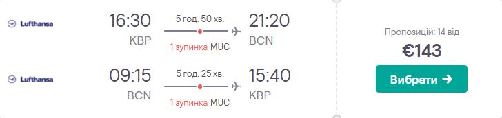 Київ – Барселона – Київ