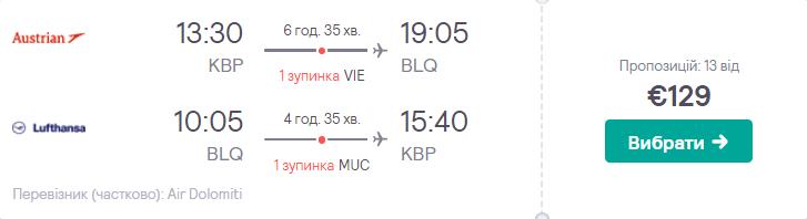 Київ – Болонья – Київ
