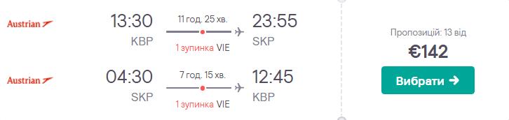 Київ – Скоп'є – Київ