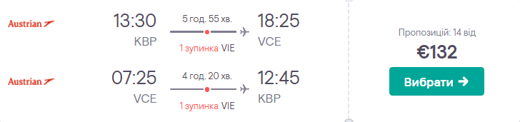 Київ – Венеція – Київ