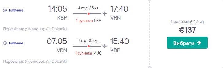 Київ – Верона – Київ