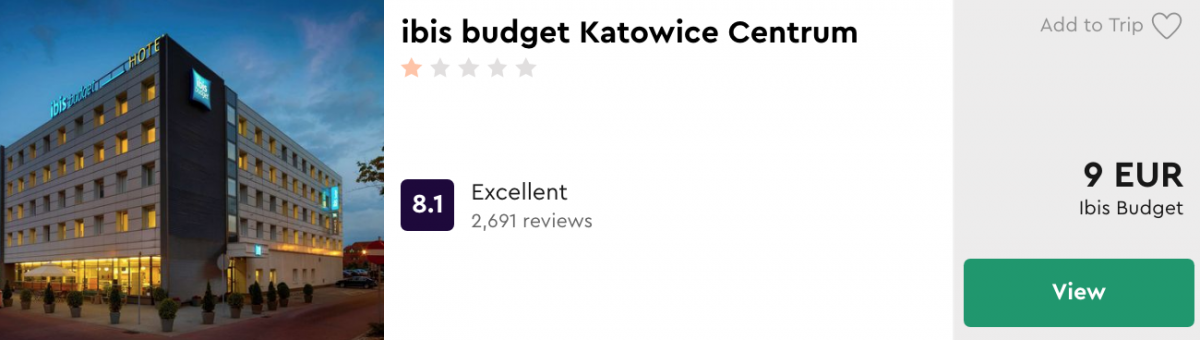 дешеві готелі в Катовіце