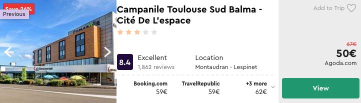 дешевий готель в Тулузі