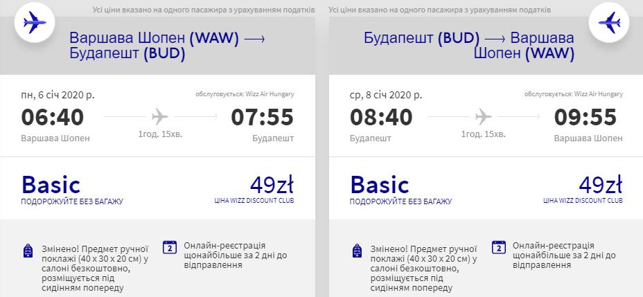 Варшава - Будапешт - Варшава