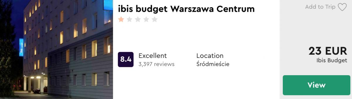 дешеві готелі у Варшаві