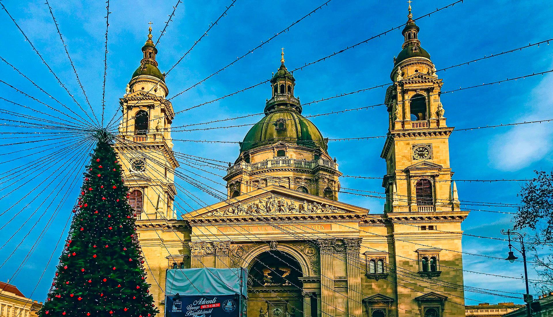 Угорщина Будапешт різдво