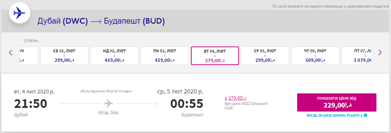 Дубай - Будапешт